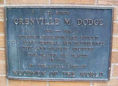 Grenville M. Dodge Marker image. Click for full size.