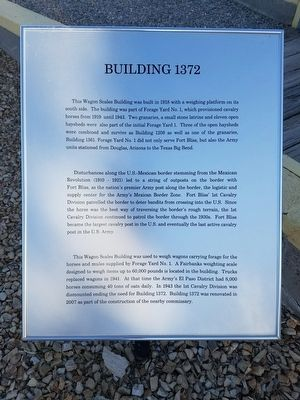 Building 1372 Marker image. Click for full size.