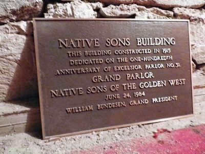 (Jackson) Native Sons Hall Marker image. Click for full size.