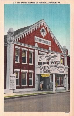 A-6 The Barter Theatre of Virginia, Abingdon, Va image. Click for full size.