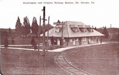 Washington and Virginia Railway Station, Mt. Vernon, Va. image. Click for full size.
