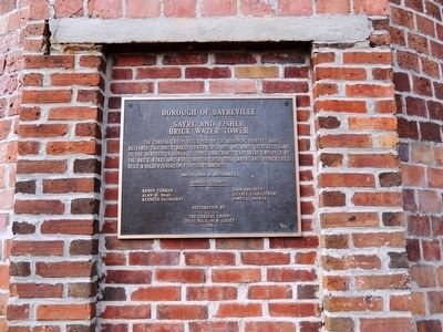 Sayre and Fisher Brick Water Tower Marker image. Click for full size.