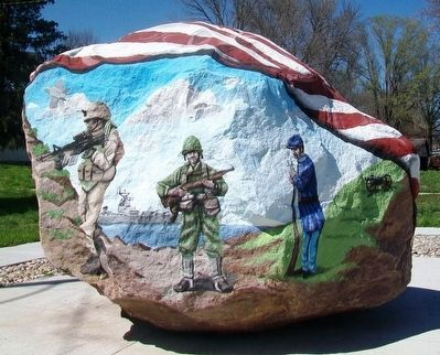 Emerson Freedom Rock Veterans Memorial image. Click for full size.