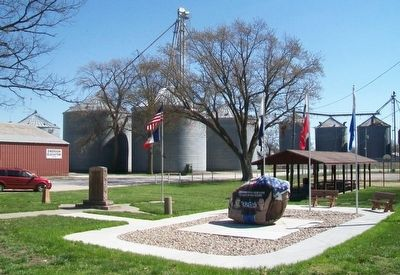 Emerson Freedom Rock Veterans Memorial at Evans Memorial Park image. Click for full size.