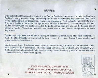 Updated Sparks Marker image. Click for full size.