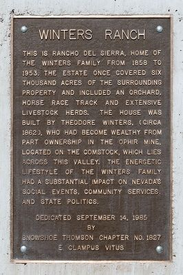Winters Ranch Marker image. Click for full size.
