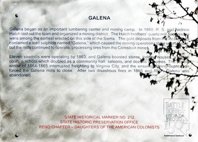 Galena Marker image. Click for full size.