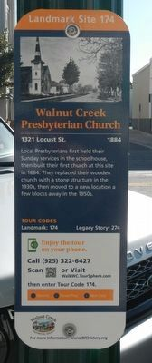 Walnut Creek Presbyterian Church Marker image. Click for full size.