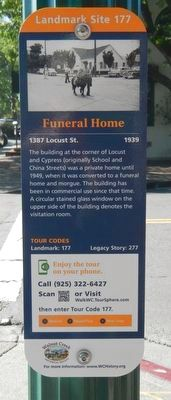 Funeral Home Marker image. Click for full size.