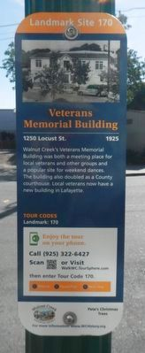 Veterans Memorial Building Marker image. Click for full size.