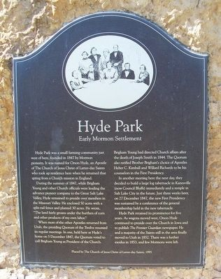 Hyde Park Marker image. Click for full size.