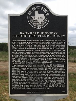 Bankhead Highway Through Eastland County Texas Historical Marker image. Click for full size.