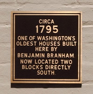 One of Washington's Oldest Houses Marker image. Click for full size.