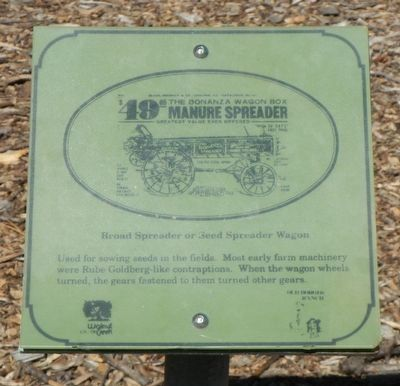 Broad Spreader of Seed Spreader Wagon Marker image. Click for full size.