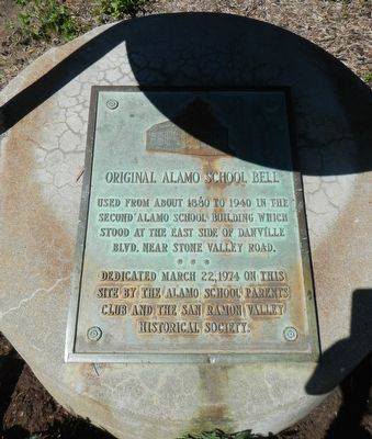 Original Alamo School Bell Marker image. Click for full size.