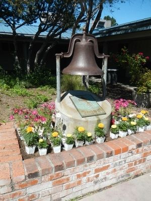 Original Alamo School Bell and Marker image, Touch for more information