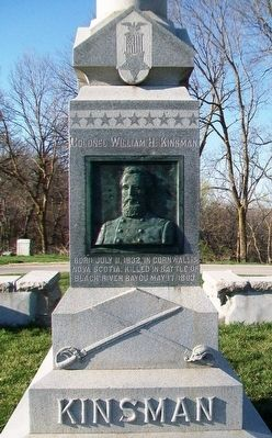 Colonel William H. Kinsman Memorial image. Click for full size.