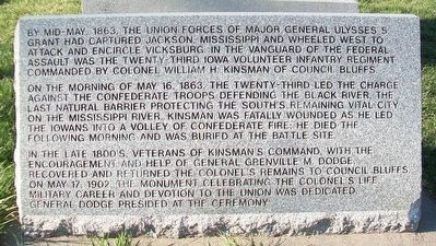 Colonel William H. Kinsman Monument image. Click for full size.