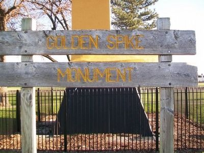 Golden Spike Monument Sign image. Click for full size.