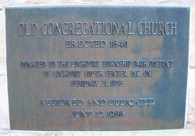 Old Congregational Church Marker image. Click for full size.