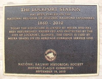 The Lockport Station Marker image. Click for full size.
