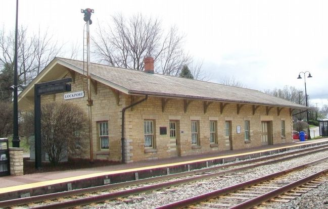 The Lockport Station and Marker image. Click for full size.