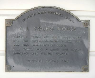 A.J. Young House Marker image. Click for full size.