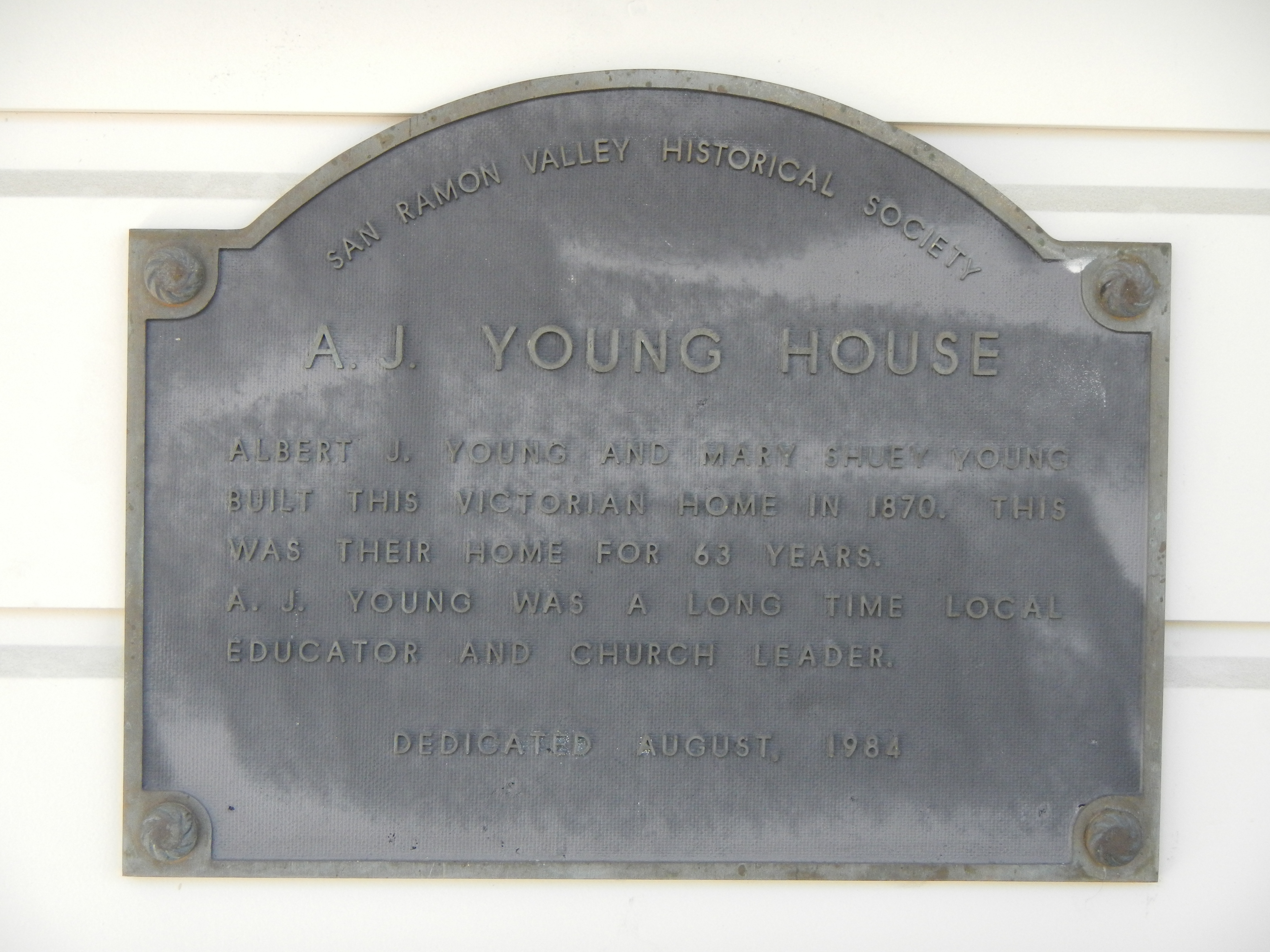 A.J. Young House Marker