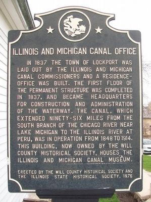 Illinois & Michigan Canal Office Marker image. Click for full size.