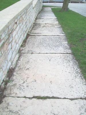 Old Stone Slab Sidewalk at Illinois & Michigan Canal Office image. Click for full size.