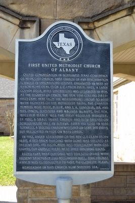 First United Methodist Church of Albany Marker image. Click for full size.