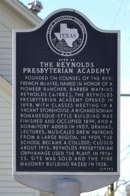 Site of the Reynolds Presbyterian Academy Marker image. Click for full size.