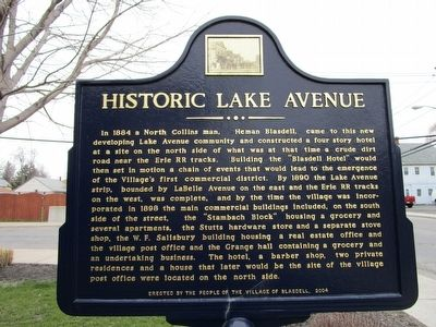 Historic Lake Avenue Marker image. Click for full size.