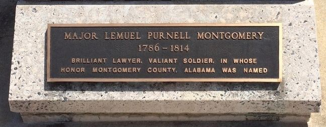 Major Lemuel Purnell Montgomery Marker image. Click for full size.
