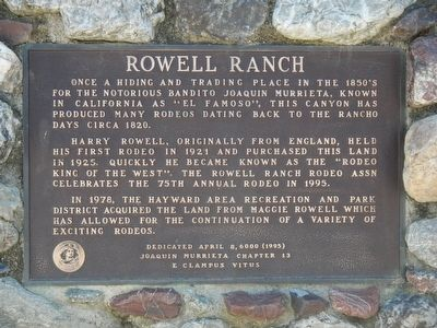 Rowell Ranch Marker image. Click for full size.