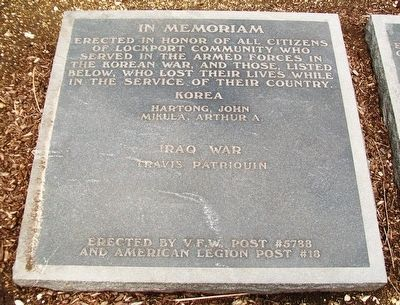 War Memorial Korea and Iraq Marker image. Click for full size.
