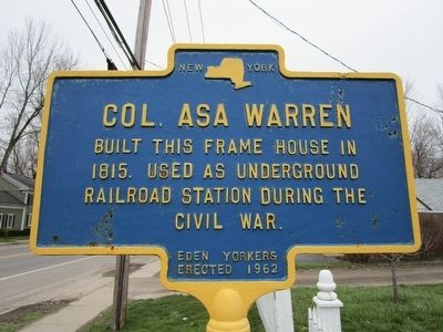 Col. Asa Warren Marker image. Click for full size.