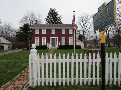 Col. Asa Warren Marker & House image. Click for full size.