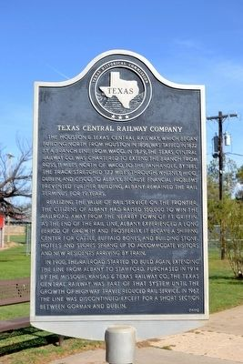 Texas Central Railway Company Marker image. Click for full size.