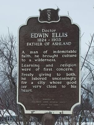 Doctor Edwin Ellis Marker image. Click for full size.
