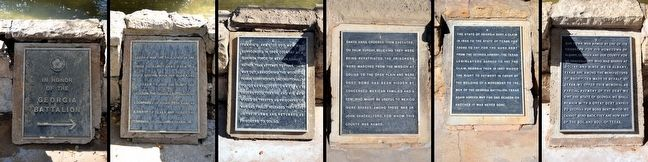 Inscription Tablets of the Georgia Battalion Memorial image. Click for full size.