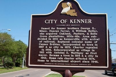 City of Kenner Marker image. Click for full size.
