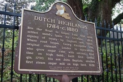 Dutch Highlands Marker image. Click for full size.