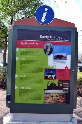 Early History of Fredericksburg, Texas Marker image. Click for full size.