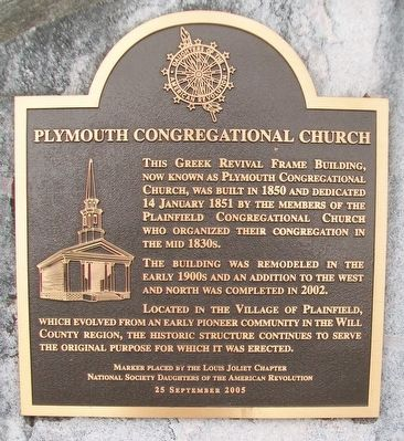 Plymouth Congregational Church Marker image. Click for full size.