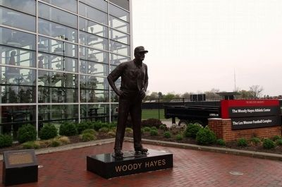 Woody Hayes Statue Marker image. Click for full size.