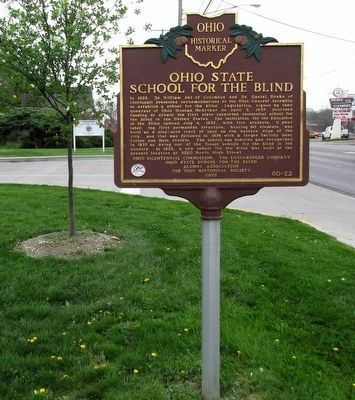 Ohio State School for the Blind Marker image. Click for full size.