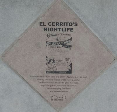 El Cerrito's Nightlife Marker image. Click for full size.