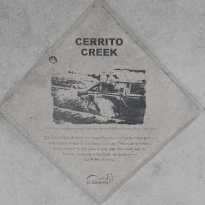 Cerrito Creek Marker image. Click for full size.