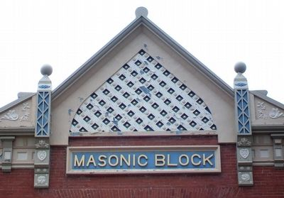 Masonic Block Detail image. Click for full size.